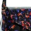 Женская сумка 35419 черная с цветным принтом 5