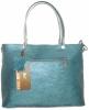 Женская сумка 2521 синяя металик 1