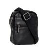Мужская кожаная сумка Vesson 4586 черная 2