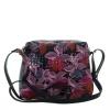 Женская сумка 32958 черная с цветным принтом 3