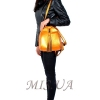 Кожаный городской рюкзак МІС 2533 темное золото 5