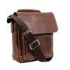 Мужская кожаная сумка Vesson 4639 коричневая 4