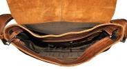 Мужской кожаный портфель 4381 рыжий 4