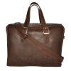 Мужской кожаный портфель 4393 коричневый 4