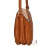 Женская кожаная сумка 2486 рыжая 2