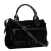 Женская замшевая сумка MIC 0685 черная 2
