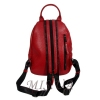 Женский кожаный сумка-рюкзак 2596 красный 2