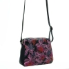 Женская сумка 32958 черная с цветным принтом 1