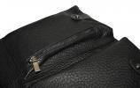 Мужской кожаный портфель-сумка 4368 черный 4