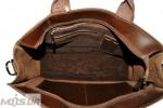 Мужской кожаный портфель 4252 коричневый однотонный 6