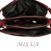Женская кожаная сумка 2486 бордовая 4