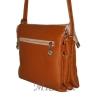 Женская кожаная сумка 2486 рыжая 3