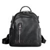 Женский кожаный сумка-рюкзак 2583 черный 0