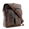 Мужская кожаная сумка Vesson  4568 коричневая - гранж 2