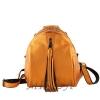 Кожаный городской рюкзак МІС 2533 темное золото 0
