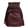 Женский кожаный сумка-рюкзак 2596 бордовый 3