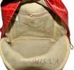 Шкіряний рюкзак 2517 червоний з принтом - хвиля 4
