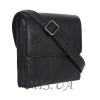 Мужская кожаная сумка Vesson 4523 черная 2