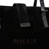 Женская замшевая сумка MIC 0716 черная 2