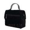 Женская замшевая сумка МІС 0726 черная 4