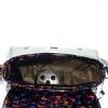 Женская сумка 35419 черная с цветным принтом 3