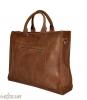 Мужской кожаный портфель 4254 коричневый 4