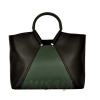 Women's bag 35601 black with green 0