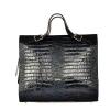 Женская кожаная сумка - портфель 2528 темно-синяя 0