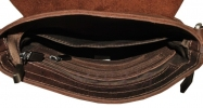 Мужская кожаная сумка 4259 коричневая малага 4