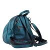 Кожаный городской рюкзак МІС 2533 синий металик 4