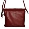 Женская кожаная сумка 2486 бордовая 0