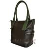Женская сумка 35586  черная с зеленым 3
