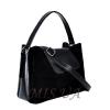 Женская замшевая сумка MIC 0703 черная 1