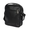 Мужская кожаная сумка Vesson 4606 черная 3