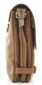 Мужская кожаная сумка 4265 рыжая 2