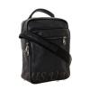 Мужская кожаная сумка Vesson  4575 черная 2