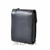 Men's leather bag 4556 is black 4