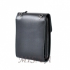 Мужская кожаная сумка Vesson 4556 черная 4