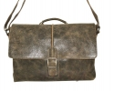 Мужской кожаный портфель 4381 хаки 0