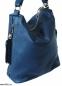 Женская кожаная сумка 2447 синяя 1
