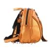 Кожаный городской рюкзак МІС 2533 темное золото 2