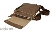 Мужская кожаная сумка 4259 хаки 3
