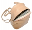 Leather backpack 2517 beige 2