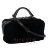 Жіноча замшева сумка МІС 0697 чорна 2