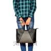Женская сумка 35601 черная с серым 4