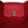 Женская замшевая сумка МIС 0703 бордовая 1