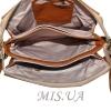 Женская кожаная сумка 2486 рыжая 4