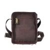 Мужская кожаная сумка Vesson 4563 коричневая 4