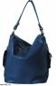 Женская кожаная сумка 2447 синяя 2
