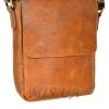 Men's leather bag 4392 orange 2